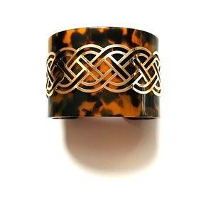 H & M Gold decorative tortoise cuff